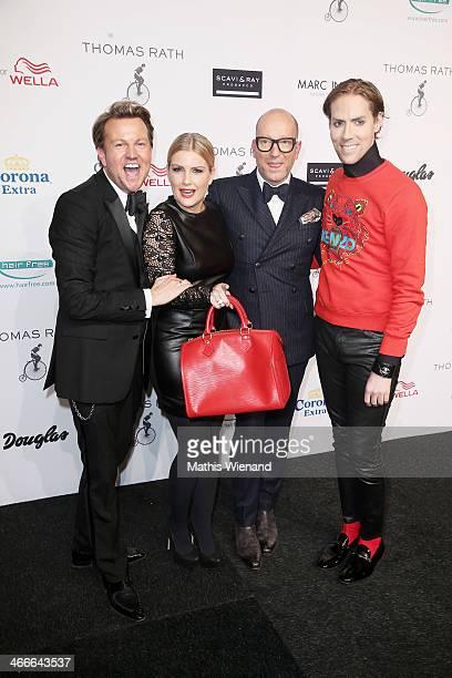 Sandro Rath Jennifer Knaeble Thomas Rath and Jens Hilpert attend the Barbara Schwarzer fashion show during Platform Fashion Dusseldorf on February 2...