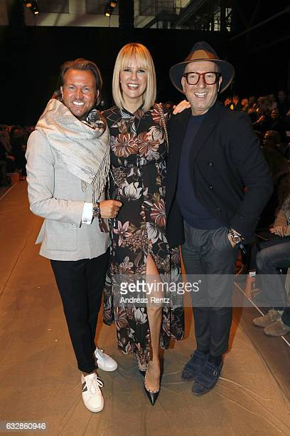 Sandro Rath Monica Ivancan and Thomas Rath attend the Breuninger show during Platform Fashion January 2017 at Areal Boehler on January 27 2017 in...