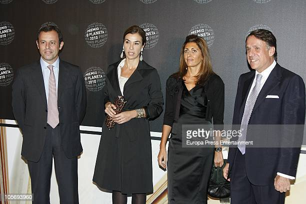Sandro Rosell and Carmen Posadas attend the 'Planeta Awards 2010' on October 15 2010 in Barcelona Spain