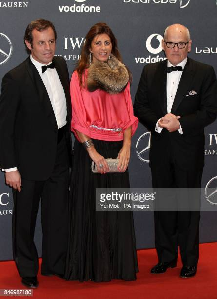 Sandro Rosell and guests arriving for 2012 Laureus World Sports Awards at Central Hall Westminster Storey's Gate London