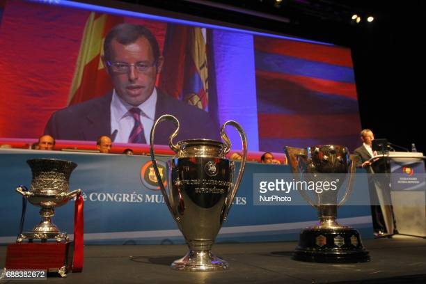 Sandro Rosell former president of FC Barcelona in a file image of 2011 in Barcelona Spain
