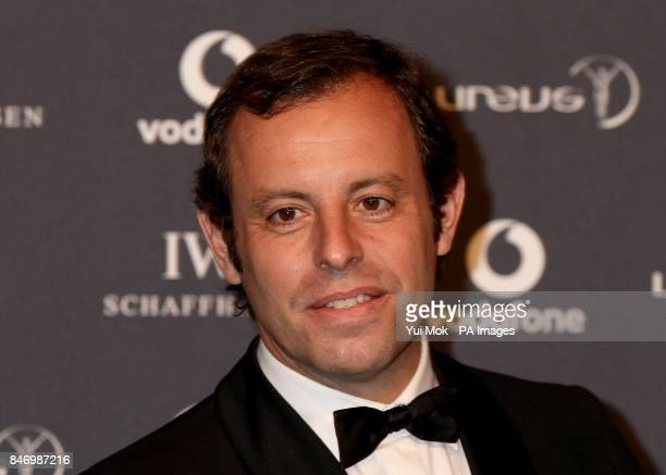 Sandro Rosell the Barcelona FC Chairman winner of the Laureus World Team of the Year during 2012 Laureus World Sports Awards at Central Hall...