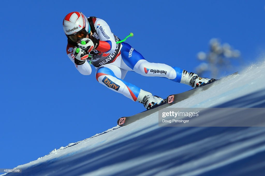 Sandro Viletta of Switzerland in action during downhill training for the Birds of Prey Audi FIS Ski World Cup on December 5, 2013 in Beaver Creek, Colorado.