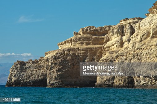 Sandstone cliffs on the Bay of Messara, Crete