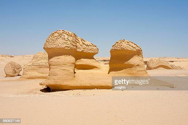 Sandstone Formations Resulting From Wind Erosion In Wadi AlHitan El Fayoum Egypt