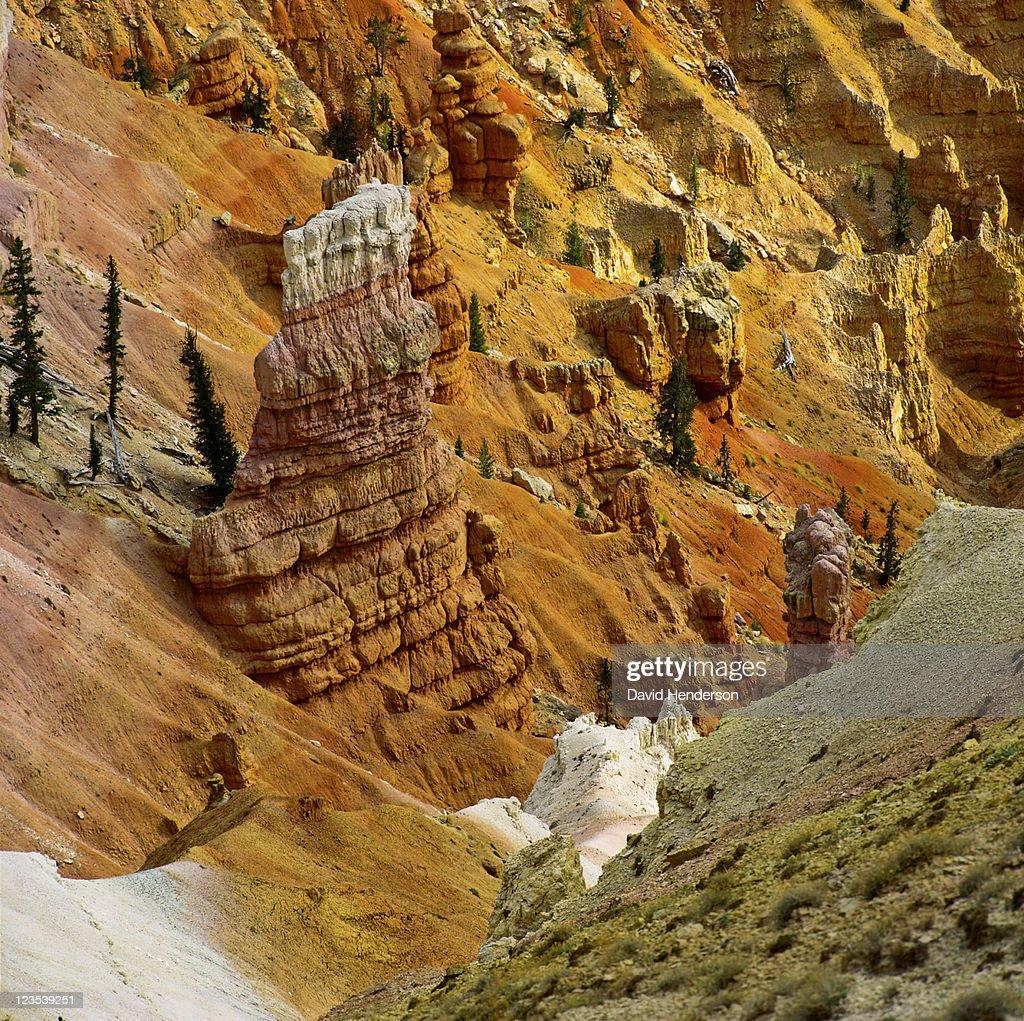 Sandstone pillars in Cedar Breaks, Utah, USA : Stock Photo