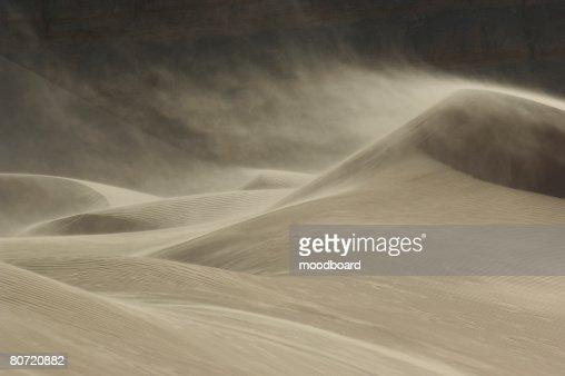 Sandstorm in Desert