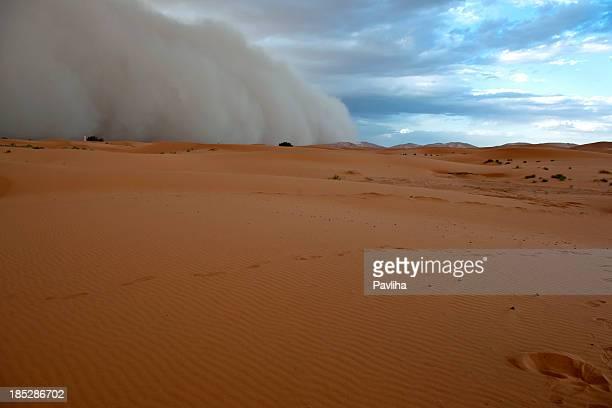 Sandstorm in Erg Chebbi Desert Morocco
