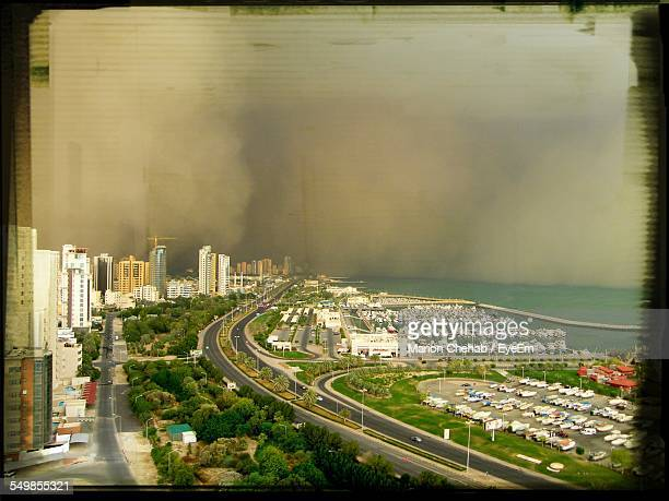 Sandstorm Leading Towards City