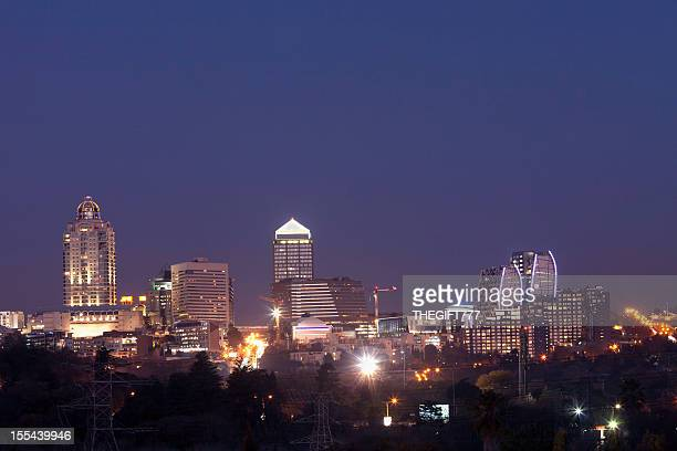 Sandton City Evening Skyline