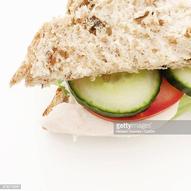 Sandwich Against White Background