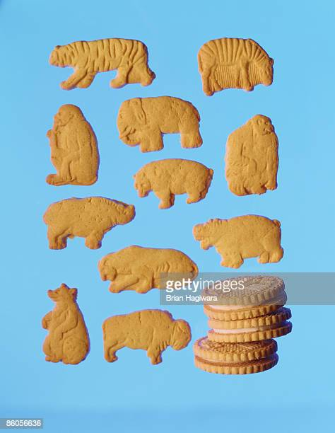 Sandwich cookies and animal crackers