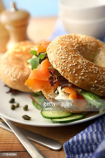 Sandwich Stills: Bagel with Smoked Salmon
