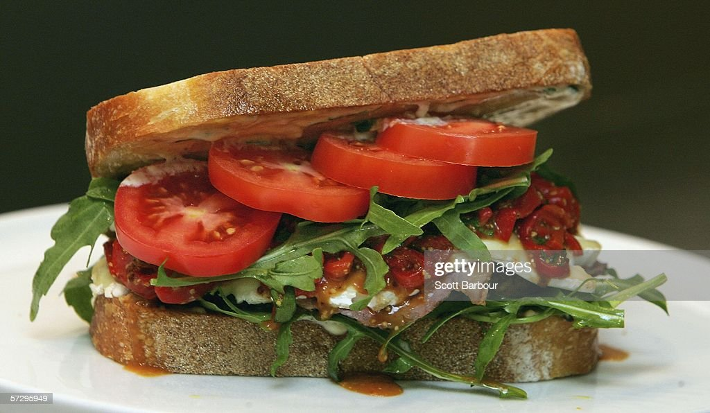 A sandwich which costs GBP 8550 sits on display at the department store Selfridges on April 10 2006 in London England Selfridges have put on sale...