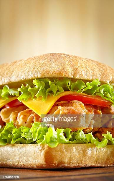 Sandwich with chicken strips