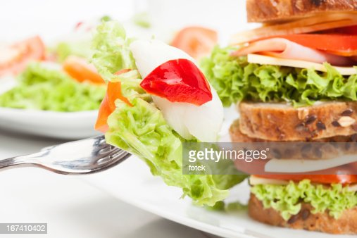 Sandwiches and salad : Stockfoto