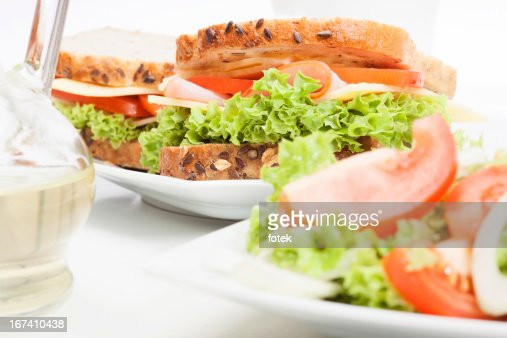 Panini e insalate : Foto stock