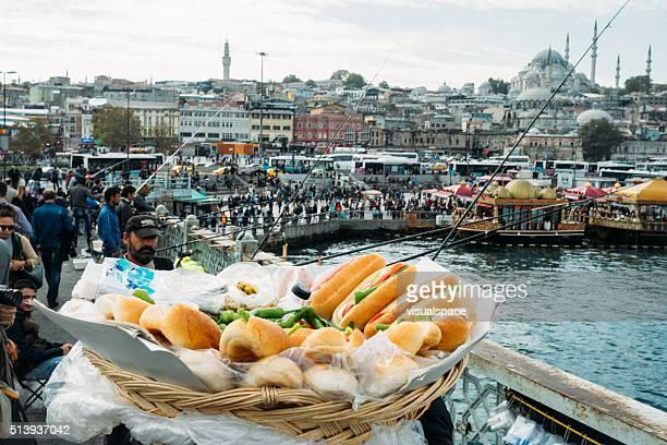 Sandwiches at the Galata bridge, Istanbul