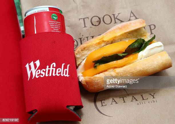 Sandwiches from Eataly are served during a Sister Act screening at Westfield World Trade Center at The Oculus at Westfield World Trade Center on...
