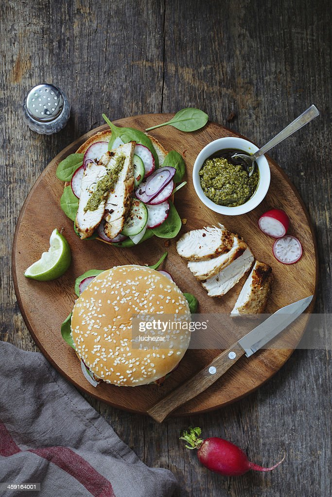 Sandwiches with poultry
