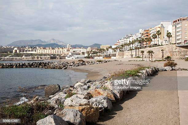 Sandy beach Calle Independencia Ceuta Spanish territory in north Africa Spain