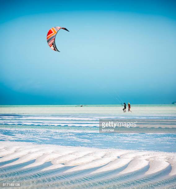 Sandy Beach On Zanzibar Island