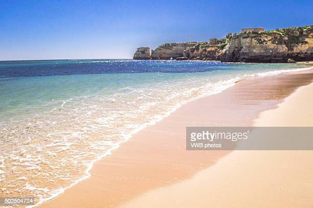 Sandy Beach with Rock Formations, Lagos, Portugal