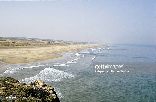 Sandy beaches West of Tangier Morocco