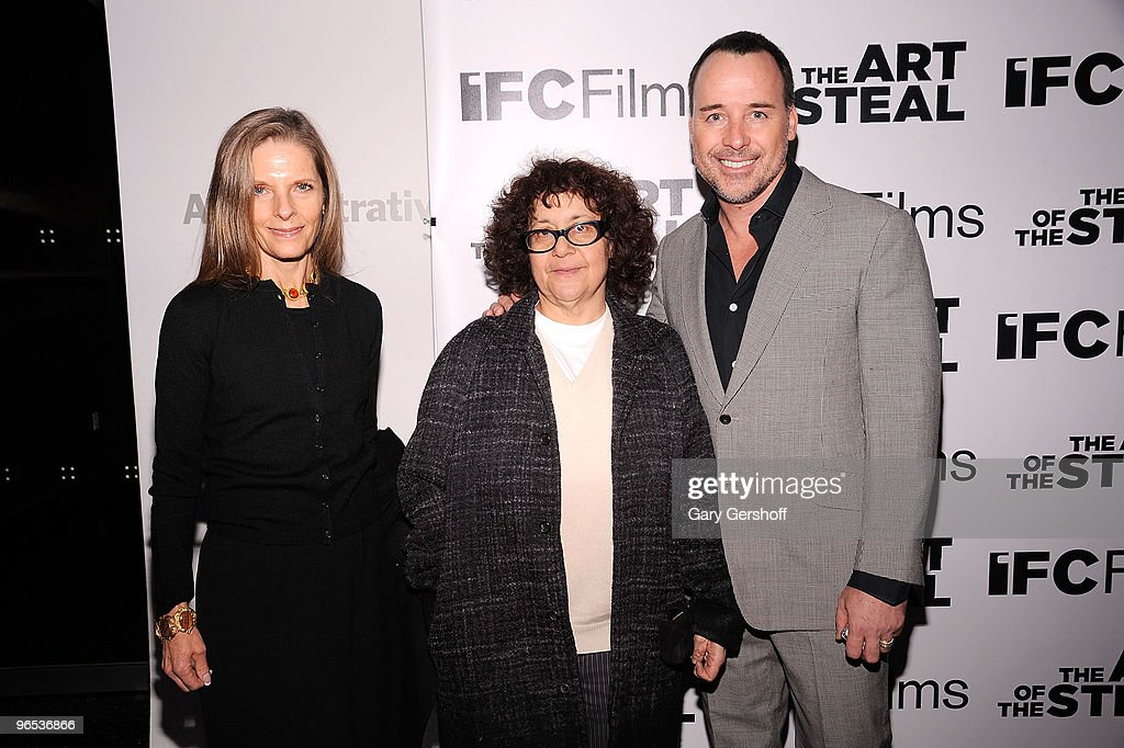 Sandy Brandt Ingrid Sischy and David Furnish attend the 'The Art of The Steal' New York premiere at MOMA on February 9 2010 in New York City