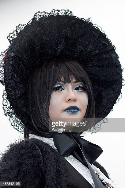 Sandy from Hong Kong wears a Japanese Gothic Lolita dress by Moi Meme Moite with a blouse by Alice And The Pirates and bonnet during the Whitby Goth...