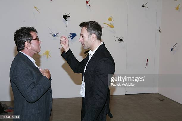Sandy Gallin and Joseph LaPiana attend Robert Miller Gallery presents 'Kinetic State' with Joseph LaPiana at Robert Miller Gallery on April 28 2008...