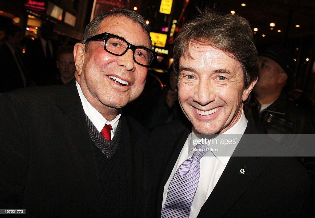 Sandy Gallin and Martin Short attend the 'I'll Eat You Last: A Chat With Sue Mengers' Broadway opening night at The Booth Theater on April 24, 2013 in New York City.