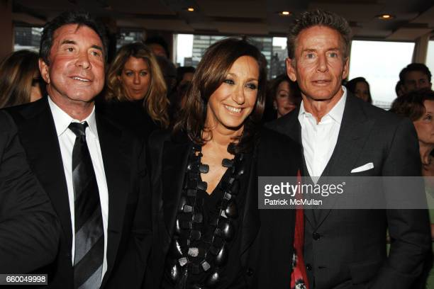 Sandy Gallin Donna Karan and Calvin Klein attend WELCOME TO GULU EXHIBITION AND BENEFIT ART SALE ANTIHUMAN TRAFFICKING INNITIATIVE at The United...