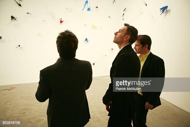 Sandy Gallin Joseph LaPiana and Robert Peter Miller attend Robert Miller Gallery presents 'Kinetic State' with Joseph LaPiana at Robert Miller...