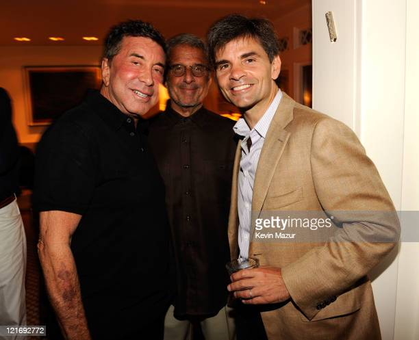 Sandy Gallin Ron Meyer and George Stephanopolous attends 2011 Apollo in the Hamptons at Private Residence on August 20 2011 in East Hampton New York