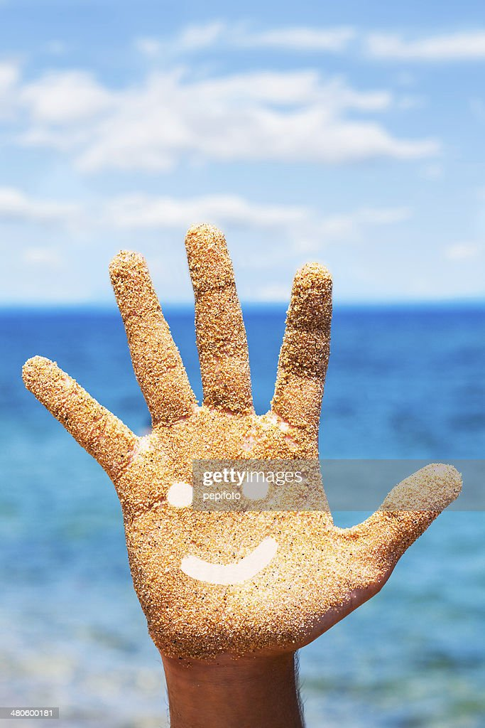 Sandy Hand : Stock Photo