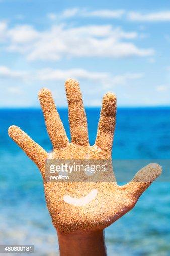 Sandy Hand : Stock Photo