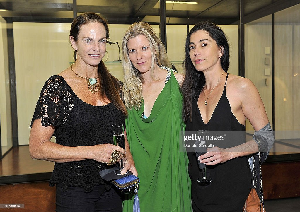 Sandy Hill, Haley Alexander Van Oosten of L'Oeil du Vert and Kelly Poe attend L'Oeil du Vert opening reception at Maxfield Gallery on April 30, 2014 in Los Angeles, California.
