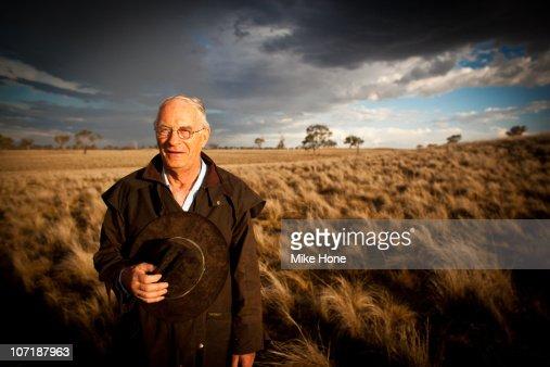 Sandy Hone at his farm