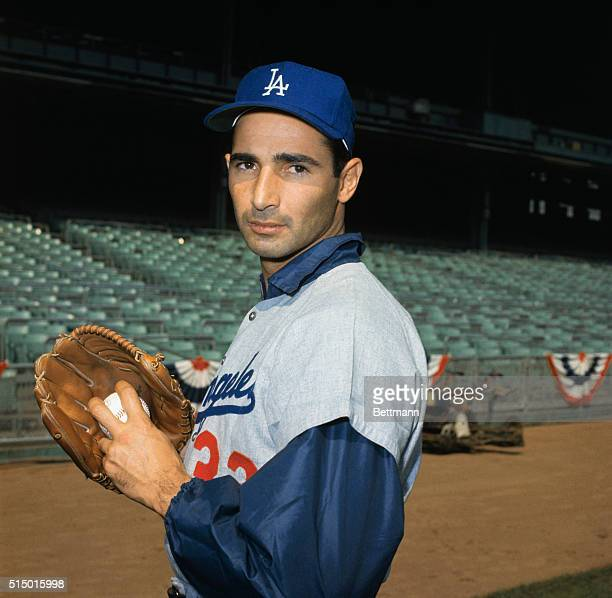 Sandy Koufax of the Dodgers during spring training