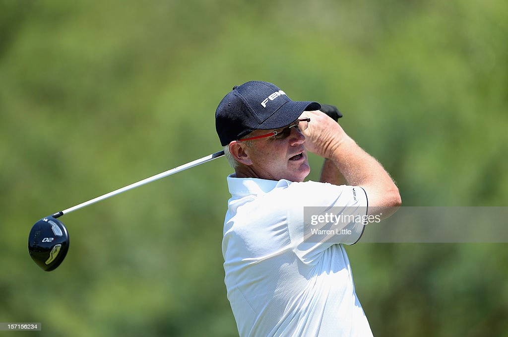 <a gi-track='captionPersonalityLinkClicked' href=/galleries/search?phrase=Sandy+Lyle&family=editorial&specificpeople=214683 ng-click='$event.stopPropagation()'>Sandy Lyle</a> of Scotland in action during the first round of the Nedbank Champions Challenge at the Gary Player Country Club on November 29, 2012 in Sun City, South Africa.