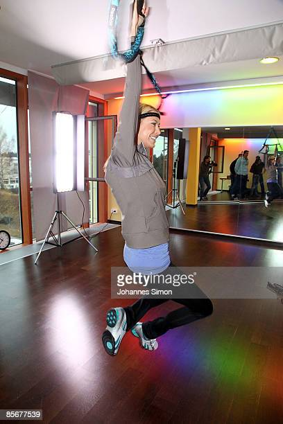 Sandy MeyerWoelden is seen during a Reebok 'JUKARI Fit To Fly' work out at 'body soul' gym on March 28 2009 in Brunnthal Germany