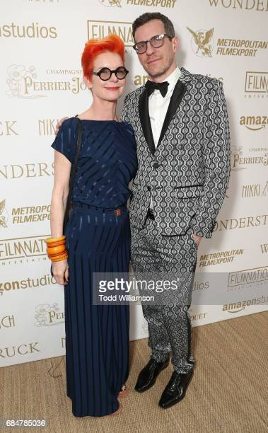 Sandy Powell and Brian Selznick attend the 'Wonderstruck' Cannes After Party on May 18 2017 in Cannes