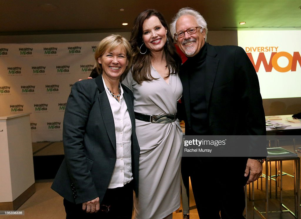 Sandy Turner, actor <a gi-track='captionPersonalityLinkClicked' href=/galleries/search?phrase=Geena+Davis&family=editorial&specificpeople=209423 ng-click='$event.stopPropagation()'>Geena Davis</a> and William Turner attend the <a gi-track='captionPersonalityLinkClicked' href=/galleries/search?phrase=Geena+Davis&family=editorial&specificpeople=209423 ng-click='$event.stopPropagation()'>Geena Davis</a> Institute On Gender In Media cocktail reception at SLS Hotel on November 13, 2012 in Beverly Hills, California.