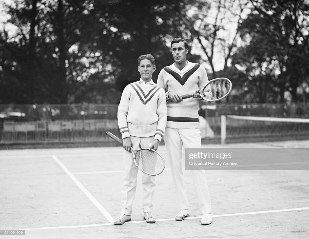 Sandy Weiner and Bill Tilden Tennis Players and Doubles Partners