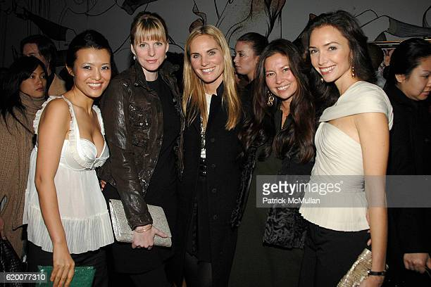 Sang A ImPropp Karen Duffy Annie Taube Lottie Oakley and Olivia Chantecaille attend PRADA premiere of 'TREMBLED BLOSSOMS' with performance by...