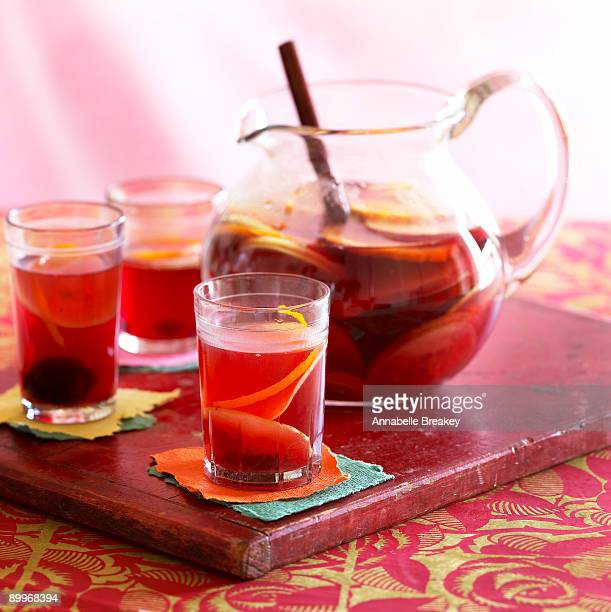 Sangria with red wine and fruit