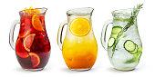 Sangria,Lemonade and Orange juice