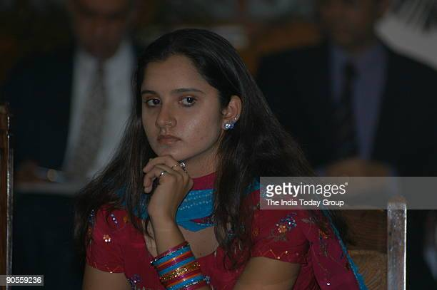 Sania Mirza Indian lawn tennis Player at Dharam Singh's felicitation meeting in Vidhana Soudha Bangalore Karnataka India