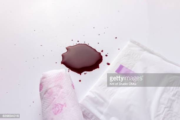 Sanitary pad and tampons with menstruation